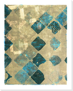 Block Print Patterns Blue 1 Wrapped Canvas Giclee Print Wall Art