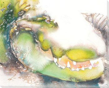 Gator Wrapped Canvas Giclee Print Wall Art