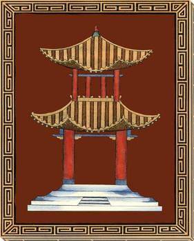 Pagodas I Wrapped Canvas Giclee Art Print Wall Art