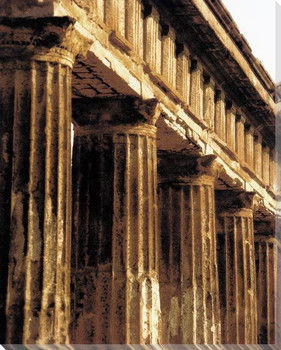 Pompeii Columns Wrapped Canvas Giclee Art Print Wall Art