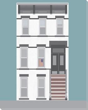 New York Plan 2 Wrapped Canvas Giclee Art Print Wall Art