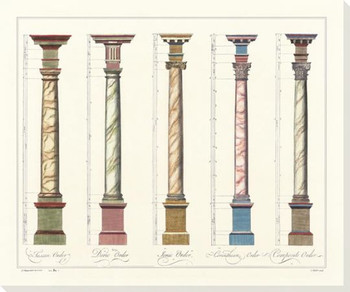 Column Grouping 1 Wrapped Canvas Giclee Art Print Wall Art