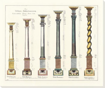 Column Grouping 2 Wrapped Canvas Giclee Art Print Wall Art