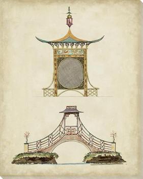 Garden Follies Plan III Wrapped Canvas Giclee Art Print Wall Art