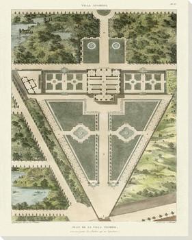 Plan De La Villa Negroni Wrapped Canvas Giclee Art Print Wall Art