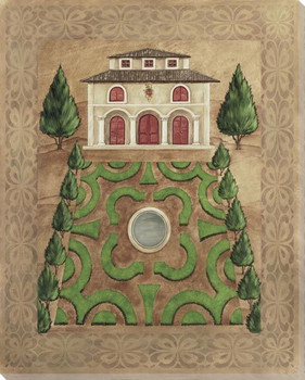 Venetian Mansion Garden Plan I Wrapped Canvas Giclee Print Wall Art