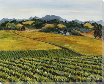 Fall Vineyards Wrapped Canvas Giclee Print Wall Art