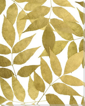 Overlapping Leaves Day 1 Wrapped Canvas Giclee Art Print Wall Art