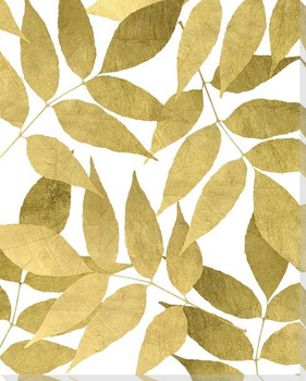 Overlapping Leaves Day 2 Wrapped Canvas Giclee Art Print Wall Art