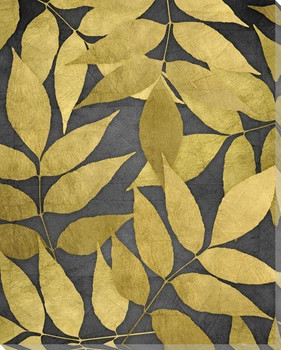 Overlapping Leaves Night 1 Wrapped Canvas Giclee Art Print Wall Art