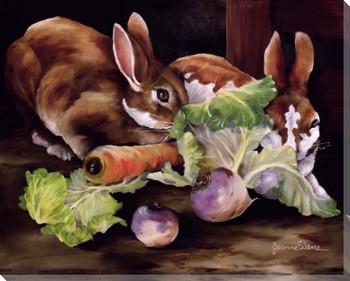 Farm Fresh Rabbits Wrapped Canvas Giclee Print Wall Art
