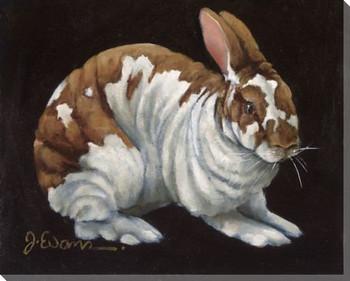 Joker Bunny Rabbit Wrapped Canvas Giclee Print Wall Art
