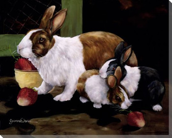 Something Special Bunny Rabbits Wrapped Canvas Giclee Print