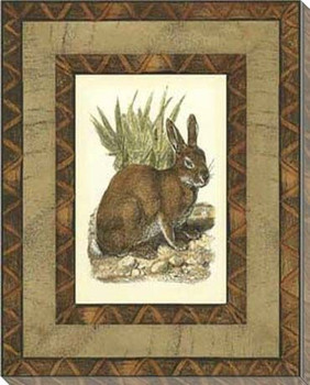Printed Rustic Bunny Rabbit Wrapped Canvas Giclee Print Wall Art