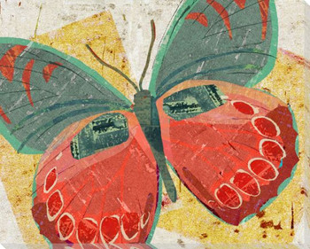 Paper Butterfly Three Wrapped Canvas Giclee Print Wall Art