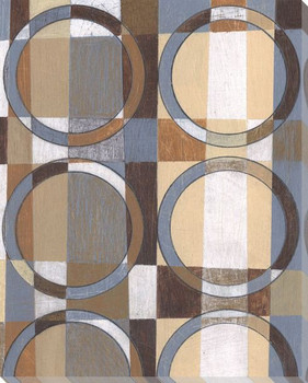 Checkered Rings I Wrapped Canvas Giclee Print Wall Art