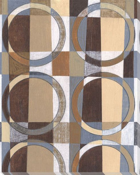 Checkered Rings II Wrapped Canvas Giclee Print Wall Art