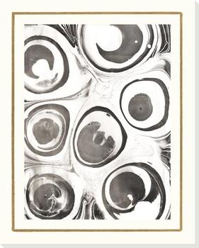 B & W Form VII Wrapped Canvas Giclee Art Print Wall Art