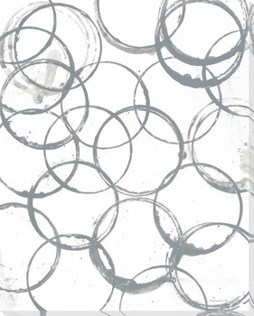 Grey Rings Wrapped Canvas Giclee Print Wall Art