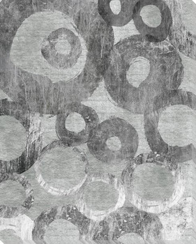 Abstract in Circles 1 Wrapped Canvas Giclee Print Wall Art