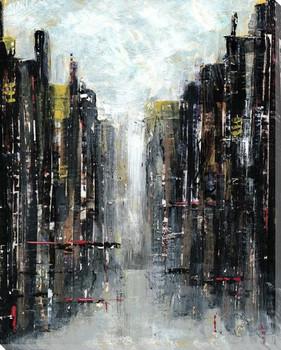 Gotham Cityscape I Wrapped Canvas Giclee Print Wall Art