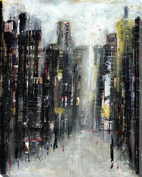 Gotham Cityscape II Wrapped Canvas Giclee Print Wall Art
