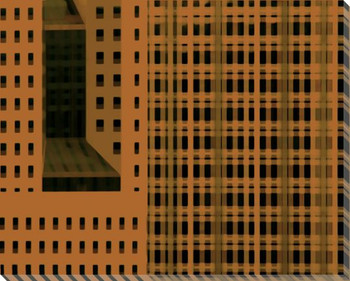 City Patterns Uptown Cityscape Wrapped Canvas Giclee Print