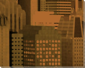 City Patterns Crosstown Cityscape Wrapped Canvas Giclee Print