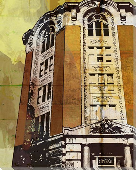 Loop City Hall Cityscape Wrapped Canvas Giclee Print Wall Art