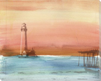 Coastal Lighthouse Wrapped Canvas Giclee Print Wall Art