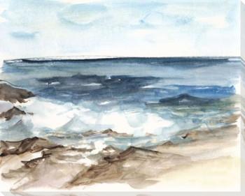 Coastal Watercolor V Wrapped Canvas Giclee Print Wall Art