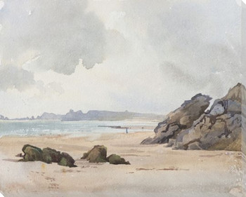Vintage Shoreline II Wrapped Canvas Giclee Print Wall Art