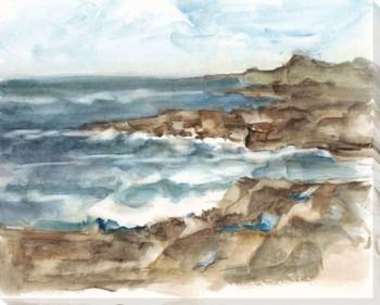 Coastal Watercolor VI Wrapped Canvas Giclee Print Wall Art