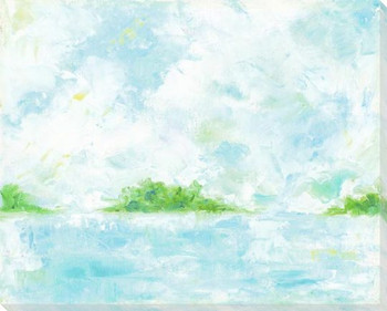 Calm of the Coast Wrapped Canvas Giclee Art Print Wall Art