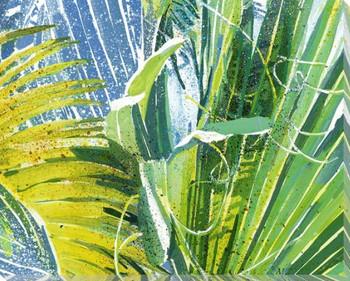 Blackbeard's Palm 3 Wrapped Canvas Giclee Print Wall Art
