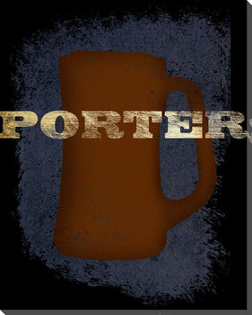 Porter Beer Wrapped Canvas Giclee Print Wall Art