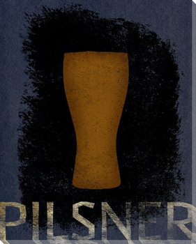 Pilsner Beer Wrapped Canvas Giclee Print Wall Art