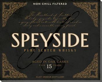 Speyside Scotch Wrapped Canvas Giclee Print Wall Art