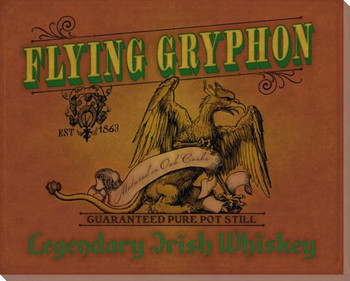 Flying Gryphon Whiskey Wrapped Canvas Giclee Print Wall Art