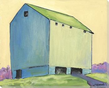 Tall Barn Wrapped Canvas Giclee Print Wall Art