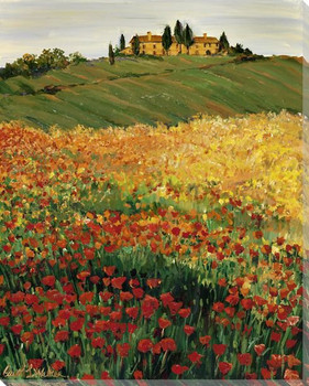 Poppy Fields Wrapped Canvas Giclee Print Wall Art