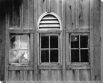 Barn Windows 1 Wrapped Canvas Giclee Print Wall Art