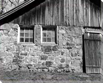Barn Windows 2 Wrapped Canvas Giclee Print Wall Art