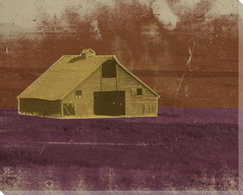 Barns and Fences 2 Wrapped Canvas Giclee Print Wall Art