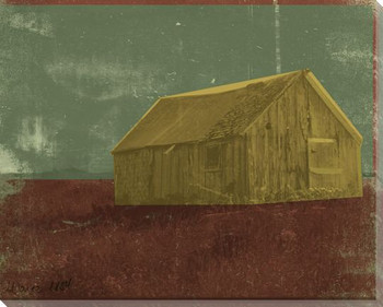 Barns and Fences 3 Wrapped Canvas Giclee Print Wall Art