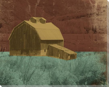 Barns and Fences 4 Wrapped Canvas Giclee Print Wall Art
