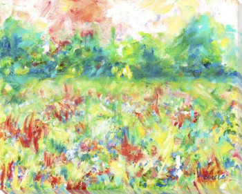 Field of Color Wrapped Canvas Giclee Art Print Wall Art