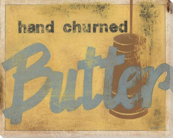 Hand Churned Butter Wrapped Canvas Giclee Print Wall Art