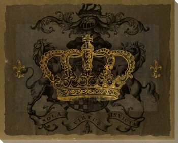 Dark Crowns 3 Wrapped Canvas Giclee Print Wall Art