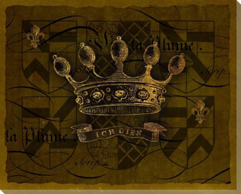 Dark Crowns 4 Wrapped Canvas Giclee Print Wall Art